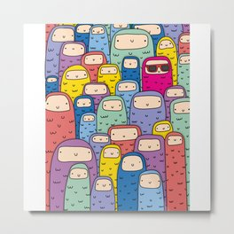 Color Monsters Metal Print