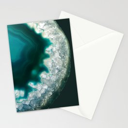 The abyss gazes back agate Stationery Cards