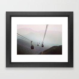 Landscape travel photography. Nature photo. Mountains. Modern decor gift Framed Art Print
