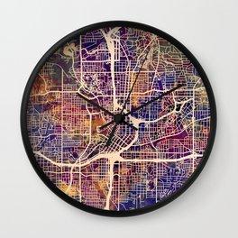 Atlanta Georgia City Map Wall Clock