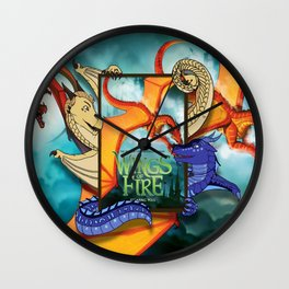 Wings of fire all dragon Wall Clock