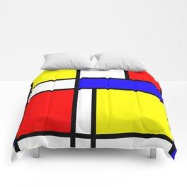 Mondrian 4 #art #mondrian #artprint Comforters
