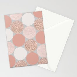 Rose Gold Dots Stationery Cards