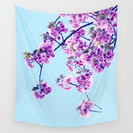 Cherry Flowers Wall Tapestry