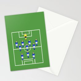 Football Soccer sports team in blue Stationery Cards