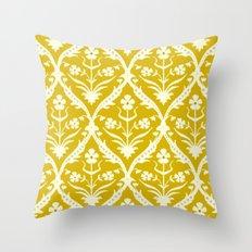 Tapish trellis ikat Throw Pillow