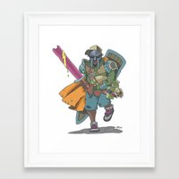 dungeons and dragons Framed Art Prints featuring Dungeons & Dragons & DOOM by Floating Disc