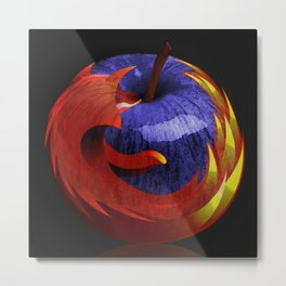 Mozilla Fire Apple Metal Print