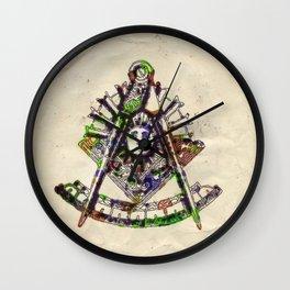 Freemasonic Symbolism by PB Wall Clock