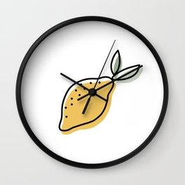 Lemon Life Wall Clock