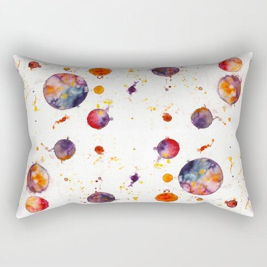 watercolor bubbles Rectangular Pillow
