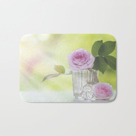 Rose love - Floral Roses Vintage Stilllife - Flowers Bath Mat