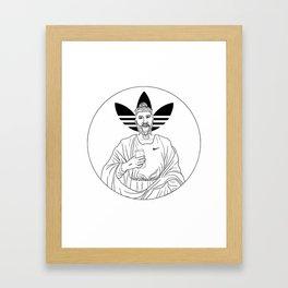 Millennial Jesus Framed Art Print