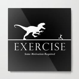 Exercise - white Metal Print