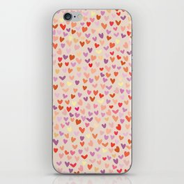 Small hearts pattern iPhone Skin