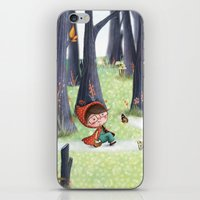 red riding hood iPhone & iPod Skins featuring Red Riding Hood by Antoana Oreski Illustration