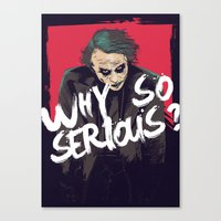 joker Canvas Prints featuring Joker  by FourteenLab