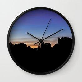 El Torcal Sunset Silhouette Wall Clock