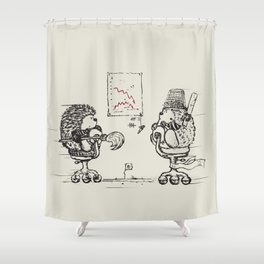 Meanwhile,at the office... Shower Curtain