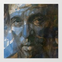 springsteen Canvas Prints featuring Shackled and Drawn by Paul Lovering Watercolors