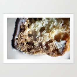 Salted caramel chocolate biscotti Art Print