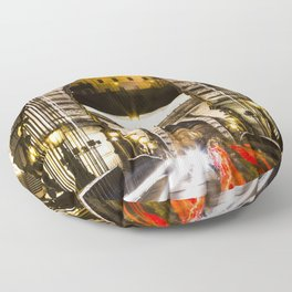 Budapest Chain Bridge Floor Pillow