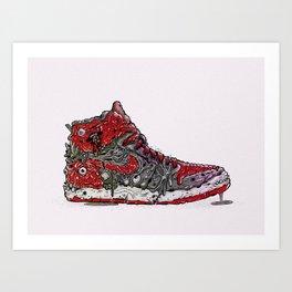Infected Jordans Art Print