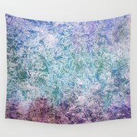 fireflies Wall Tapestries featuring Fireflies by Nancy Smith