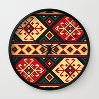 kilim Wall Clocks featuring Colorful Kilim by Pattern Design