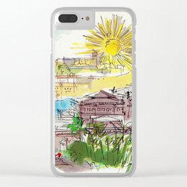 Winter In Cannes Clear iPhone Case