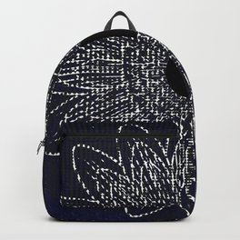 Flor Universo Negro Backpack