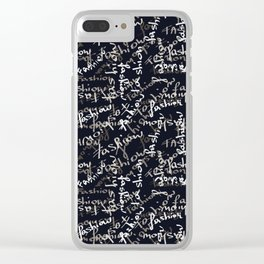 fashion black and white mood Clear iPhone Case