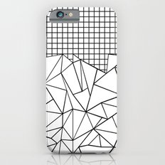 Abstract Grid #2 Black on White Slim Case iPhone 6s