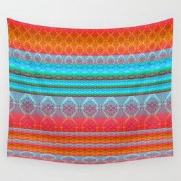 Soulful Sunset Dancing Mandala Lines Wall Tapestry