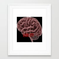 brain Framed Art Prints featuring Brain by Lucia