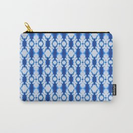 rotary tie-dye pattern in cobalt Carry-All Pouch