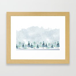 Winter Wonderland Weather Framed Art Print
