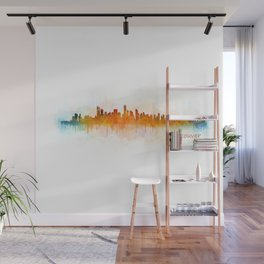 Vancouver Canada City Skyline Hq v03 Wall Mural
