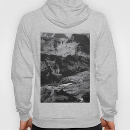 Desert at Grand Canyon national park, USA in black and white Hoody