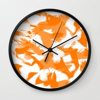 egg Wall Clocks featuring Egg by Cart My Art