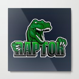 cartoon raptor Metal Print