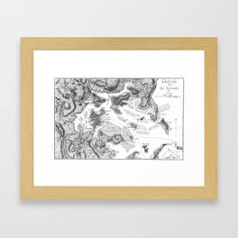 Vintage Map of Boston Harbor (1807) BW Framed Art Print