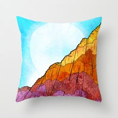 The Tall Cliff Throw Pillow