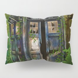 Abandoned Tardis doctor who in deep jungle Pillow Sham