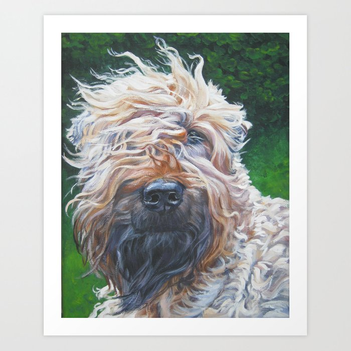 Soft-coated Wheaten Terrier from an original painting by L.A.Shepard Art Print