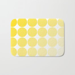 Yellow Circle Color Chart Bath Mat