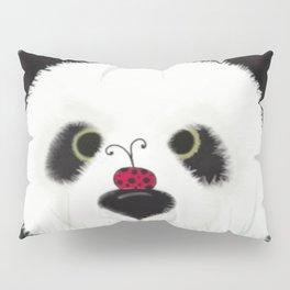 The Panda Bear And His Visitor Pillow Sham