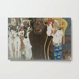 BEETHOVEN FRIEZE - GUSTAV KLIMT Metal Print