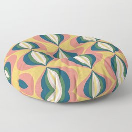 Onions in Coral and Gold Floor Pillow