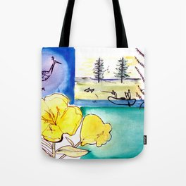 MICMAC Indian Legend, CANADA          by Kay Lipton Tote Bag